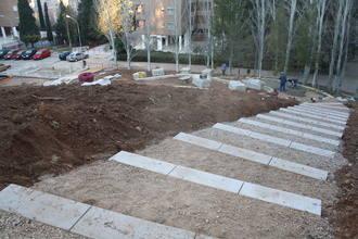 Las obras del Parque de las Torres, a pocas semanas de su finalización
