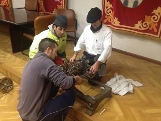 Aranzueque repara la Torre del Reloj ubicado en la Casa Consistorial
