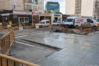 Finalizadas las obras de ampliación de un tramo de acera de la calle Felipe Solano Antelo