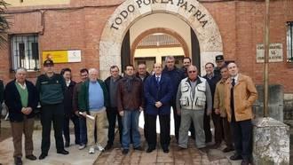 El subdelegado del Gobierno visita el cuartel de la Guardia Civil en Hita junto a los alcaldes de dicha demarcación
