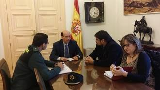 El subdelegado del Gobierno en Guadalajara, Juan Pablo Sánchez, se reúne con el alcalde de Marchamalo