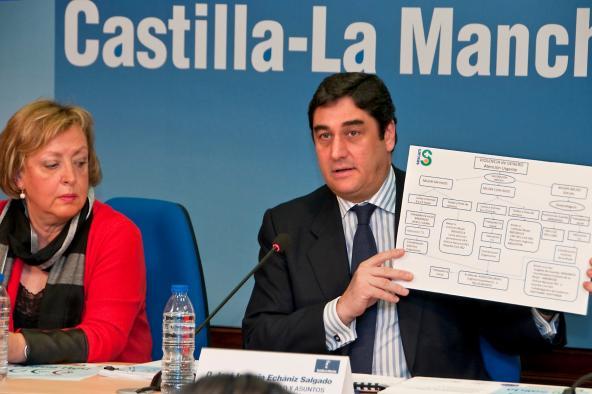 Echániz afirma en Guadalajara que los centros de salud serán referente en la detección del maltrato a mujeres y menores