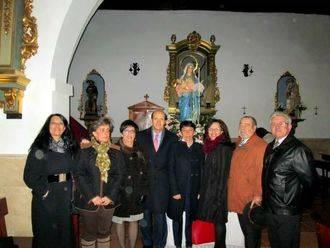 El subdelegado del Gobierno asiste a la Candelaria de Pioz