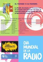 Radio Arrebato celebra el Día Mundial de la Radio con una emisión en directo desde los pasillos del Brianda, el viernes 13 de 10:30 a 13:30