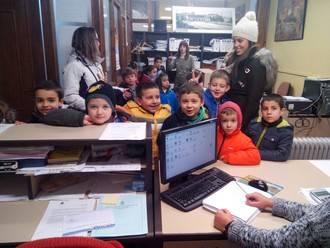 Los niños de primaria de Sigüenza conocieron el funcionamiento y las instalaciones del Ayuntamiento