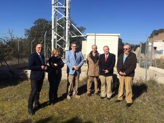 Se ha puesto en funcionamiento la nueva estación de telefonía móvil 3G en el centro del paraje de Fuentelfresno