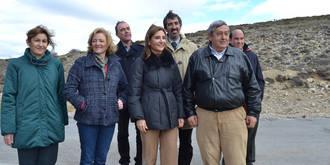 Marta García anuncia el arreglo de la carretera entre Peñalén y Poveda de la Sierra tras más de 20 años de espera