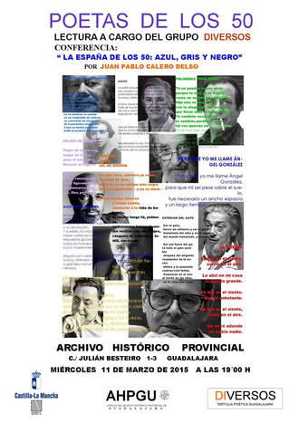 El Archivo Histórico Provincial organiza una lectura de poemas