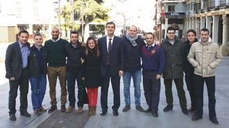 Los jóvenes del PP de Guadalajara muestra su apoyo a Antonio Román