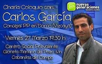 NN GG Guadalajara organiza para hoy viernes un encuentro con Carlos García, concejal del PP en Elorrio (Vizcaya)