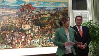 La Diputación custodiará el 'Retablo Arriacense', obra de Víctor de la Vega, cedido por la Fundación Cajasol
