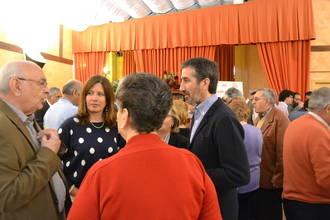 Mar España asiste a la comida ofrecida por el Centro Segoviano en Guadalajara
