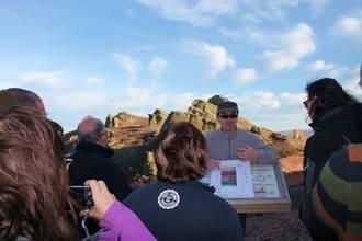 Los empresarios turísticos del Geoparque conocieron los secretos geológicos de la Sierra de Caldereros