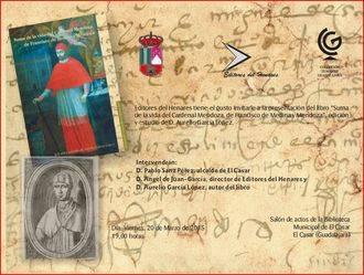 El Cardenal Mendoza llega a la biblioteca de El Casar
