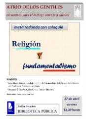 """Este viernes se celebra una mesa redonda con coloquio sobre """"Religión y fundamentalismo"""""""