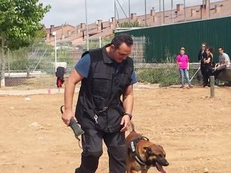 Decenas de aloveranos participaron en un productivo y animado taller de adiestramiento canino
