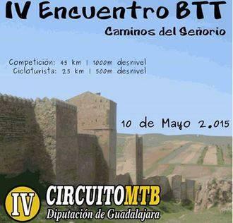 """El domingo 10, IV Encuentro BTT """"Caminos del Señorío"""", cuarta prueba del Circuito MTB Diputación de Guadalajara"""