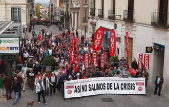 Apenas 950 personas se manifiestan en Guadalajara el Primero de Mayo