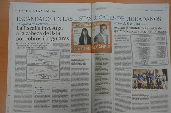 Silvia García, candidata de Ciudadanos por Azuqueca, investigada por cobros irregulares
