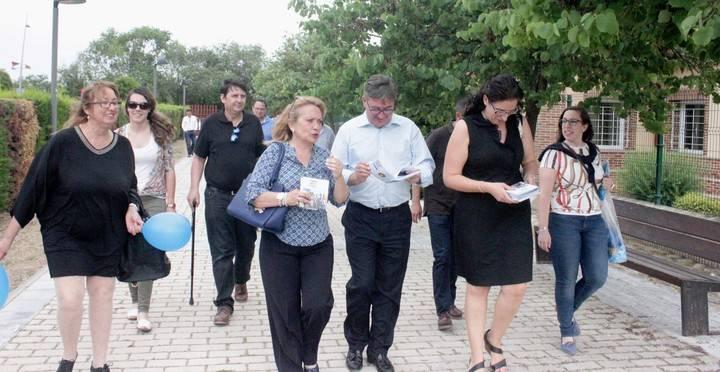 Marcial Marín en Azuqueca junto a Aure Hormaechea y parte  de la candidatura del PP a la Alcaldía