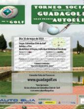 """Este sábado 16 de mayo tendrá lugar un nuevo Torneo Social de Guadalajara Club de Golf, en el """"Gran Premio Autoelia"""""""