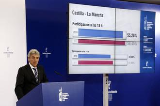 A las 18,00 horas la participación en Guadalajara es del 52,29%, casi 3 puntos menos que en 2011