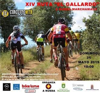 El domingo 31 se celebra en Marchamalo la XIV Ruta El Gallardo, quinta prueba del Circuito MTB Diputación de Guadalajara