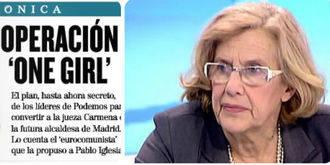 El diario El Mundo deja a Manuela Carmena como mentirosa :