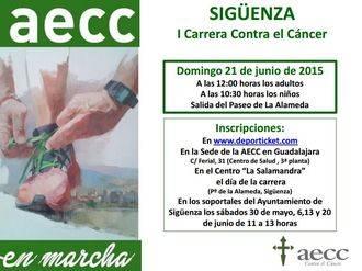 La AECC prepara su I Carrera Contra el Cáncer en Sigüenza