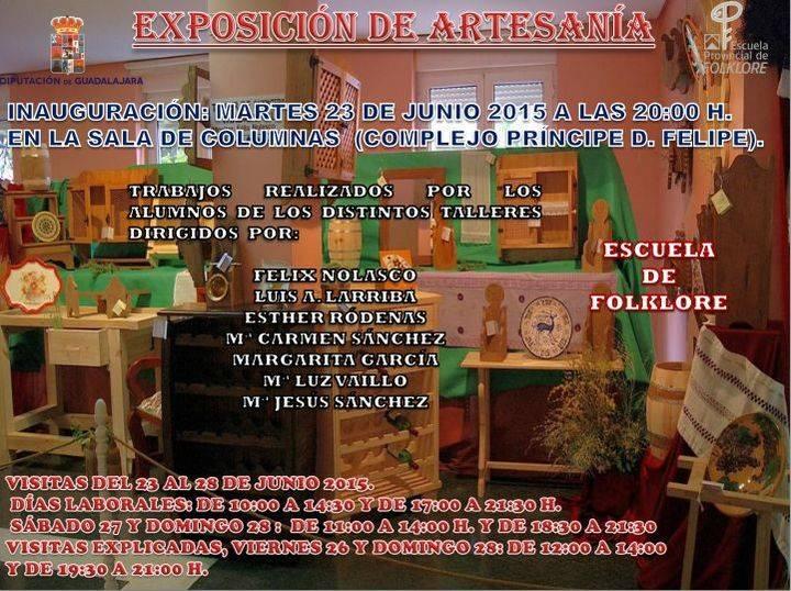 El martes 23 se inaugura la exposición de trabajos de artesanía realizados durante el curso 2014-2015 por los alumnos de la Escuela de Folklore de Diputación
