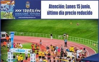 Último día de precio reducido para inscribirse en el XXX Triatlón de Guadalajara-Autocarpe