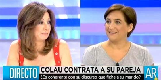 """Ana Rosa se lo dice muy clarito a Ada Colau lo de su novio : """"Yo confío mucho en mi marido, pero no le paga Vasile un sueldo"""""""