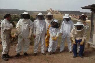 Diez personas se inician en el mundo de la apicultura en Molina de Aragón