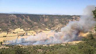 Extinguido el incendio declarado el viernes en Muduex