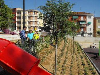 La ejecución del Parque Adolfo Suárez concluirá a principios del próximo mes