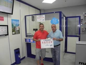 Prueba en Villanueva de la Torre con Primer Premio de la Lotería Nacional