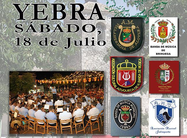 Yebra acoge un encuentro de bandas de música este sábado 18 de julio