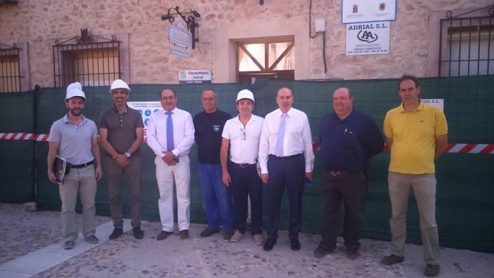 Primeros pasos para que Palazuelos vuelva a tener su Ayuntamiento tras el incendio que lo arrasó