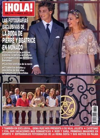 ¡HOLA!: La boda de Pierre y Beatrice en Mónaco