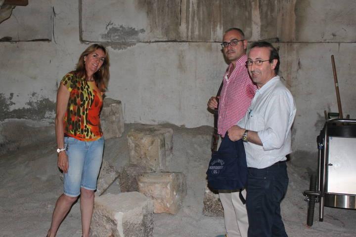 Los sillares aparecidos en Cabanillas irán al Museo Provincial del Infantado