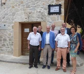 El presidente de la Diputación asiste en Baides a la inauguración del 'Salón de los Mozos'