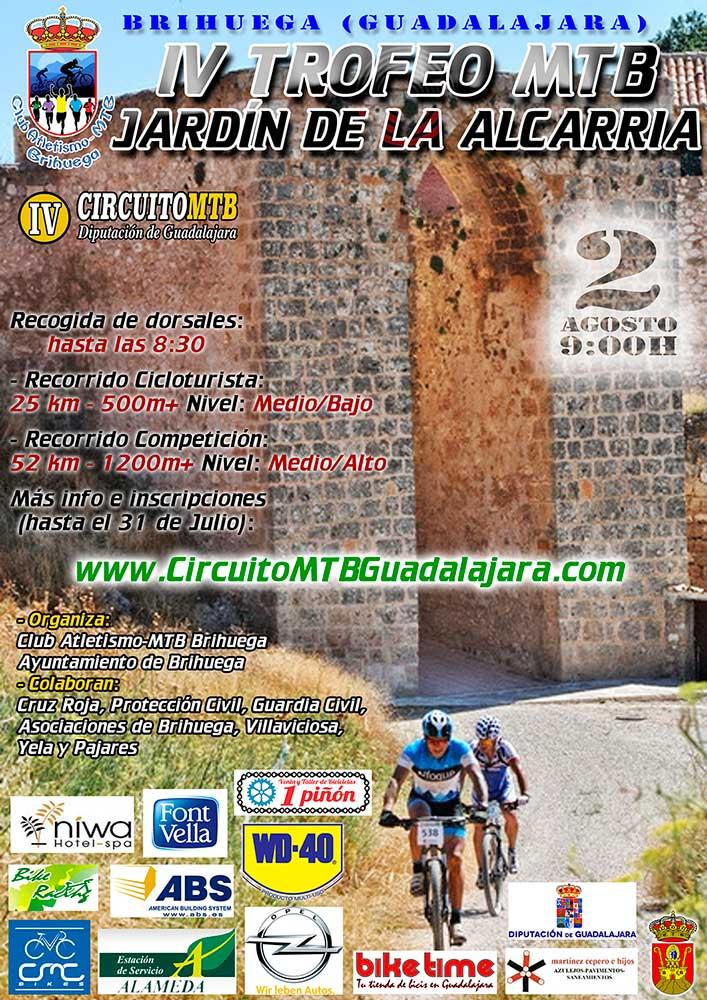 El domingo 2 de agosto se celebra en Brihuega el IV Trofeo MTB Jardín de la Alcarria