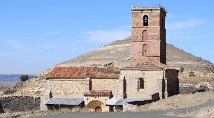 La fachada de la iglesia de Atienza escondía un artefacto explosivo desde hacía 70 años