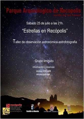 'Estrellas en Recópolis', y otras experiencias únicas, talleres para adultos y familias en el Parque Arqueológico