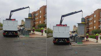 Comienzan los trabajos previos para la adecuación y reparación de los contenedores soterrados de la capital