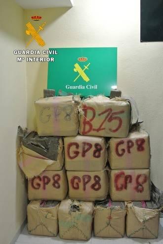 La Guardia Civil detiene a dos personas en Tembleque cuando viajaban con 393 kilos de hachís