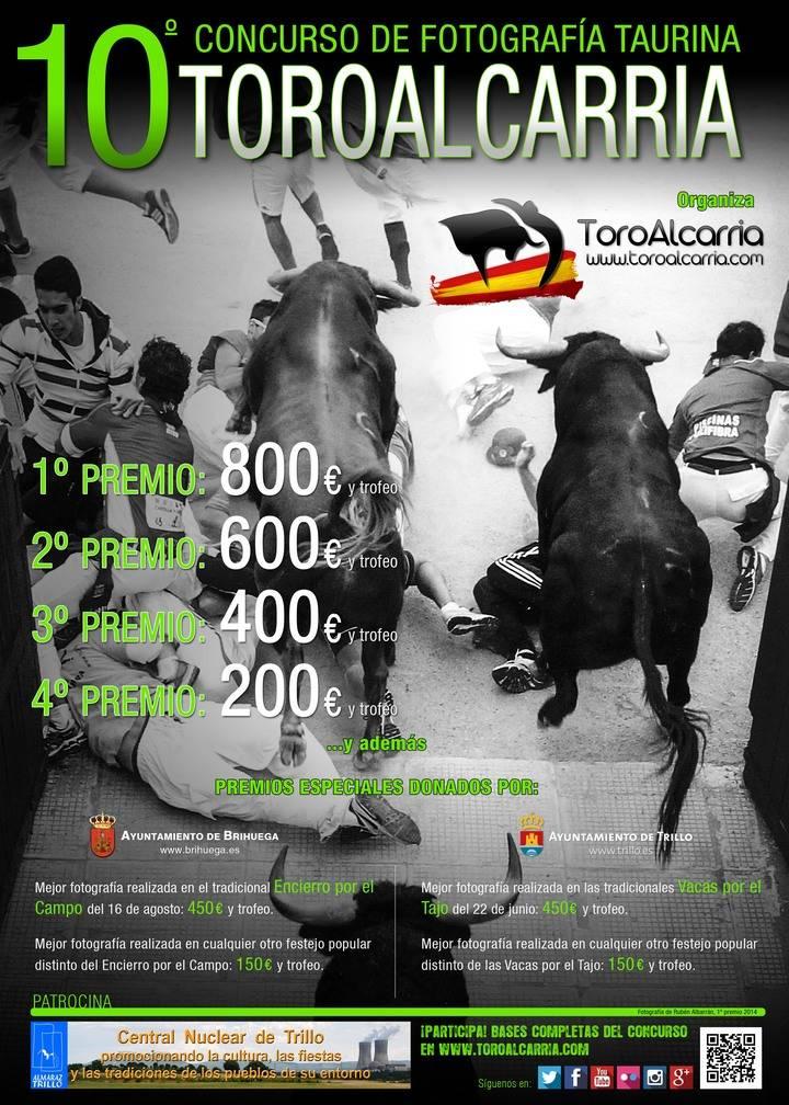 Toroalcarria.com ofrece 450 euros a la mejor fotografía del Tradicional Encierro de Brihuega