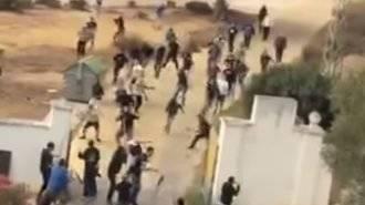Monumental batalla campal entre ultras del Jerez y del Cádiz