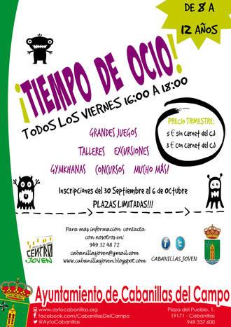 El Centro Joven de Cabanillas cierra su programación de octubre y lanza el programa infantil 'Tiempo de Ocio'