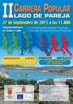 El domingo 27 se celebra la II Carrera Popular Lago de Pareja